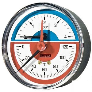 Thermomanometer 4 bar, rear connection
