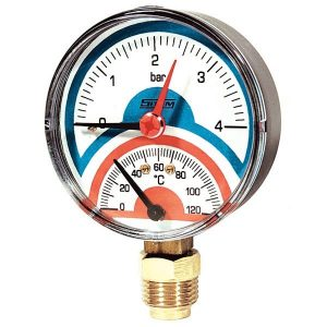 Thermomanometer 4 bar, bottom connection