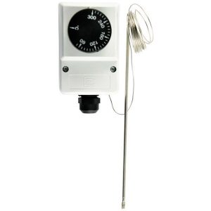 Adjustable capillary thermostat