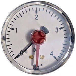 Pressure gauge 4 bar rear connection