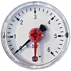 Pressure gauge 6 bar rear connection