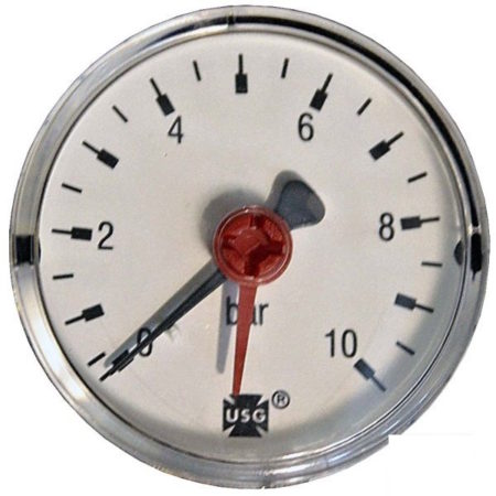 Pressure gauge 10 bar d=63mm rear connection