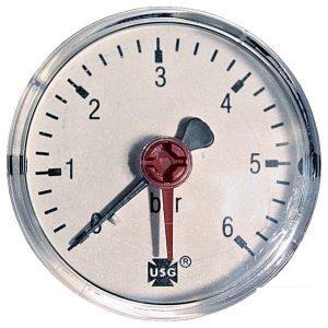 Pressure gauge 6 bar d=63mm rear connection