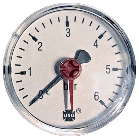 Pressure gauge 6 bar d=63mm rear connection