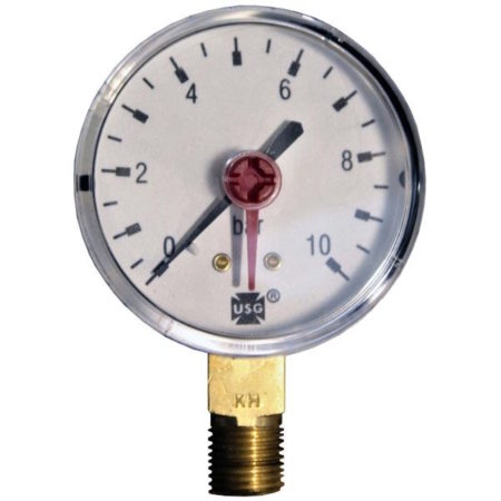 Pressure gauge 10 bar d=63mm