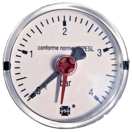 Pressure gauge 4 bar d=63mm rear connection