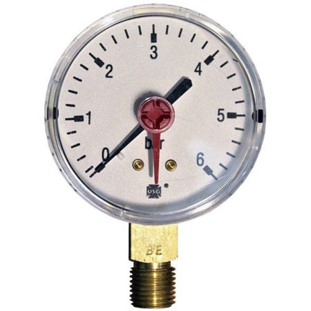 Pressure gauge 6 bar d=63mm
